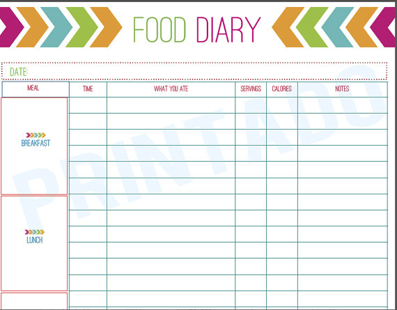 Try these 10 tips to prevent holiday weight gain for Keeping a food diary template